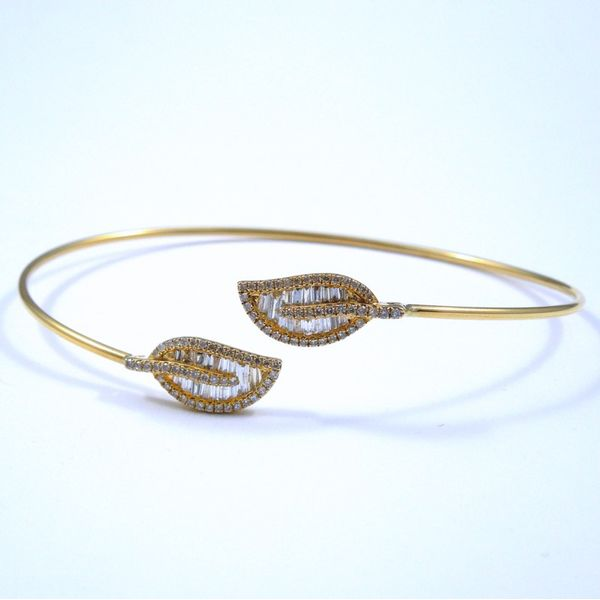 Diamond Leaf Bangle Joint Venture Jewelry Cary, NC