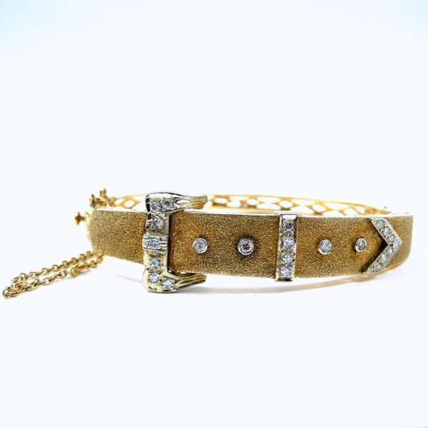 Vintage Diamond Buckle Bracelet Image 2 Joint Venture Jewelry Cary, NC