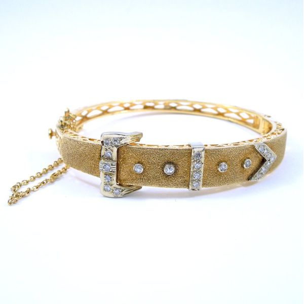 Vintage Diamond Buckle Bracelet Joint Venture Jewelry Cary, NC