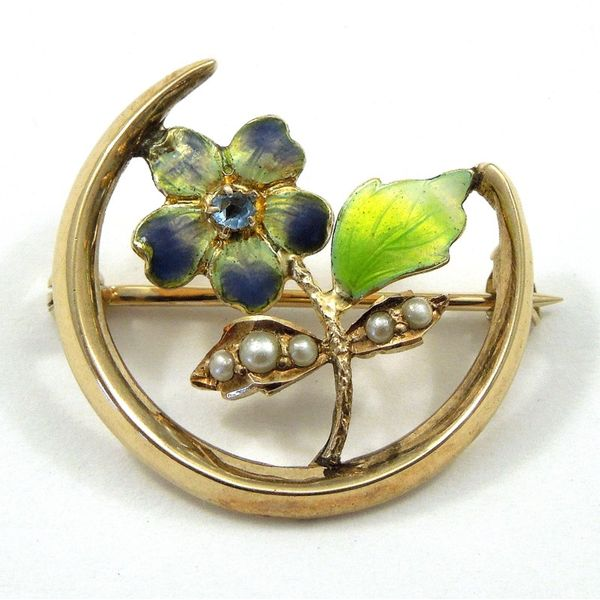 Vintage Enamel Flower Pin Joint Venture Jewelry Cary, NC