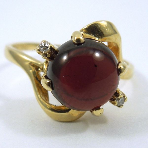 Garnet & Diamond Ring Joint Venture Jewelry Cary, NC