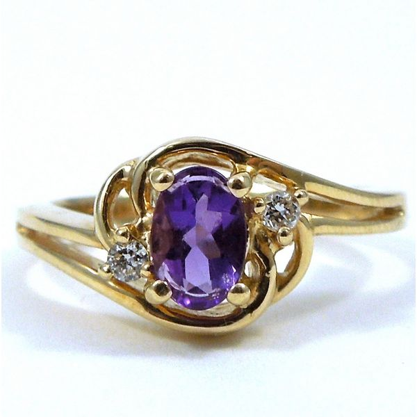 Amethyst & Diamond Ring Joint Venture Jewelry Cary, NC