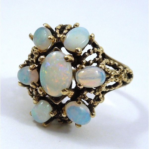 Opal Cluster Ring Joint Venture Jewelry Cary, NC