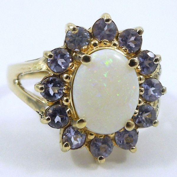 Opal & Iolite Ring Joint Venture Jewelry Cary, NC