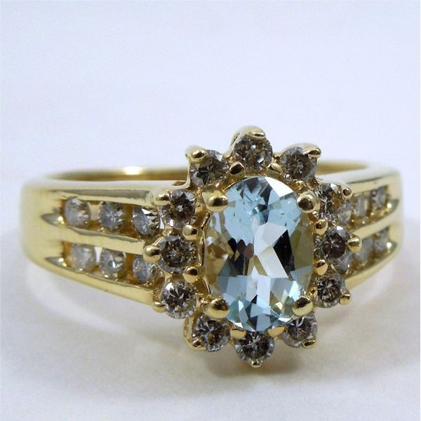 Aqua & Diamond Ring Joint Venture Jewelry Cary, NC
