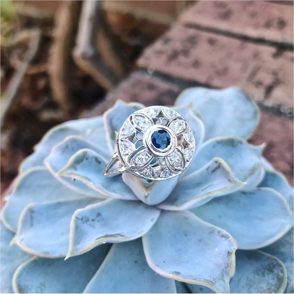 Sapphire & Diamond Ring Image 2 Joint Venture Jewelry Cary, NC