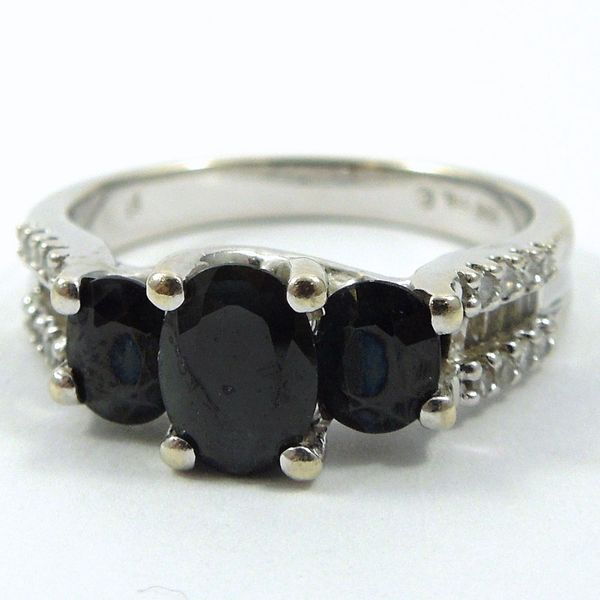 Three Stone Sapphire Ring Joint Venture Jewelry Cary, NC