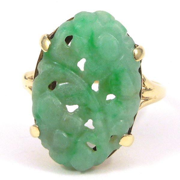 Carved Jade Ring Joint Venture Jewelry Cary, NC