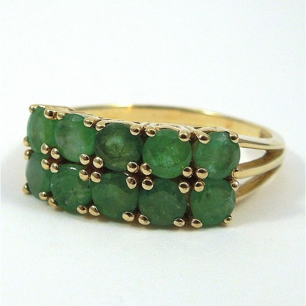 Emerald Double Row Band Joint Venture Jewelry Cary, NC
