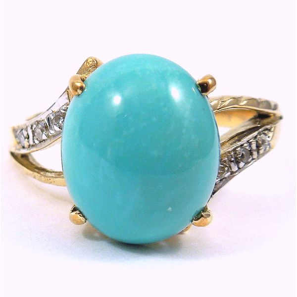 Turquoise & Diamond Ring Joint Venture Jewelry Cary, NC
