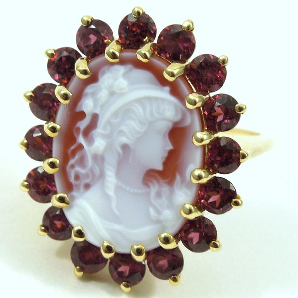 Cameo & Garnet Ring Joint Venture Jewelry Cary, NC