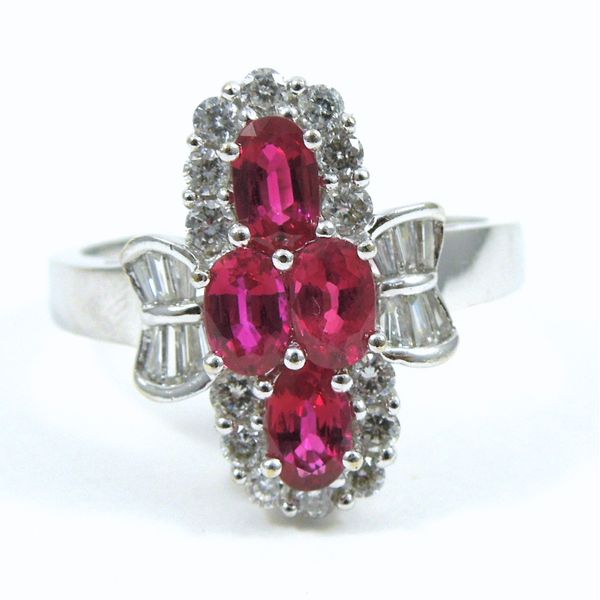 Ruby & Diamond Cocktail Ring Joint Venture Jewelry Cary, NC