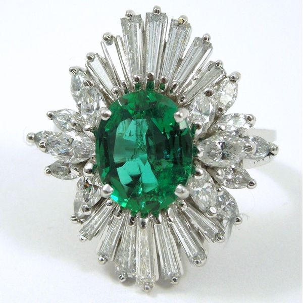 Emerald & Diamond Cocktail Ring Joint Venture Jewelry Cary, NC