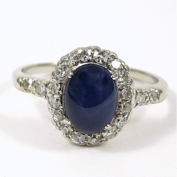 Star Sapphire & Diamond Ring Joint Venture Jewelry Cary, NC