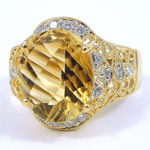 Citrine & Diamond Ring Joint Venture Jewelry Cary, NC