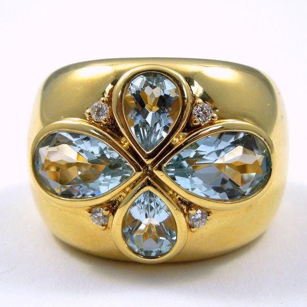 Wide Blue Topaz Ring Joint Venture Jewelry Cary, NC
