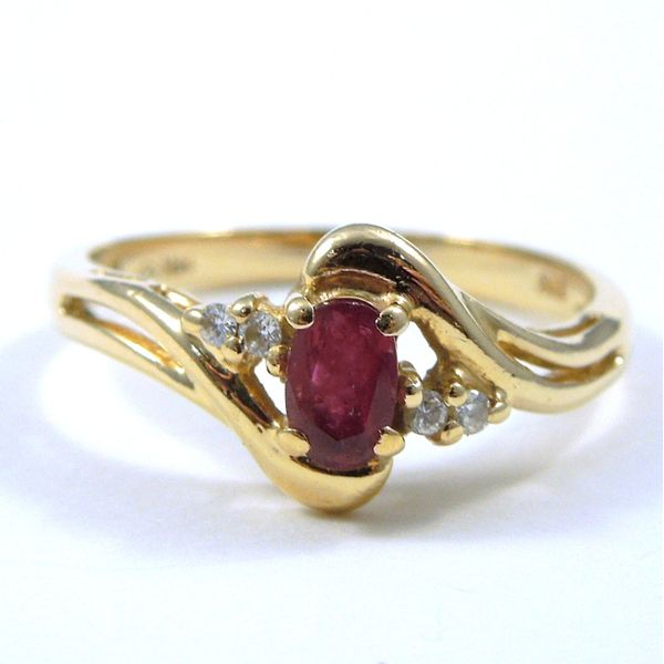 Ruby Bypass Style Ring Joint Venture Jewelry Cary, NC