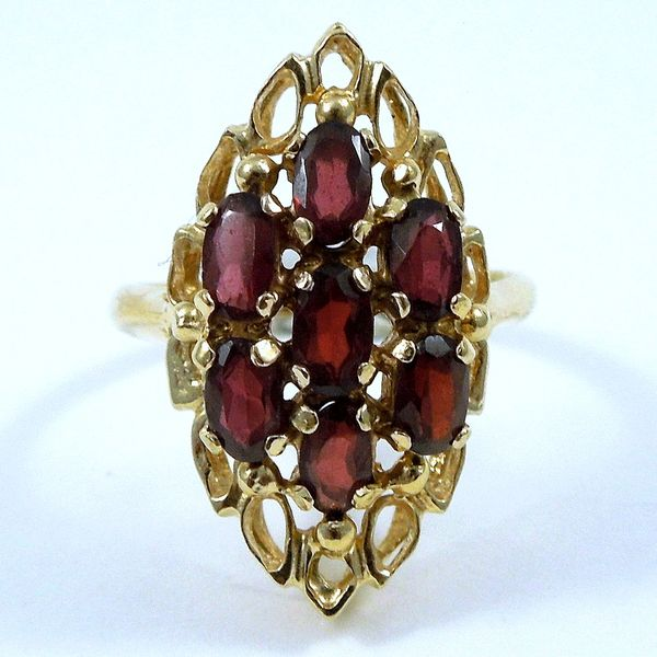 Garnet Cluster Ring Joint Venture Jewelry Cary, NC