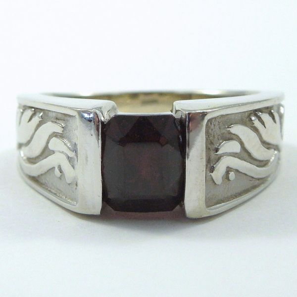 Custom Ant Hill Garnet Ring Joint Venture Jewelry Cary, NC