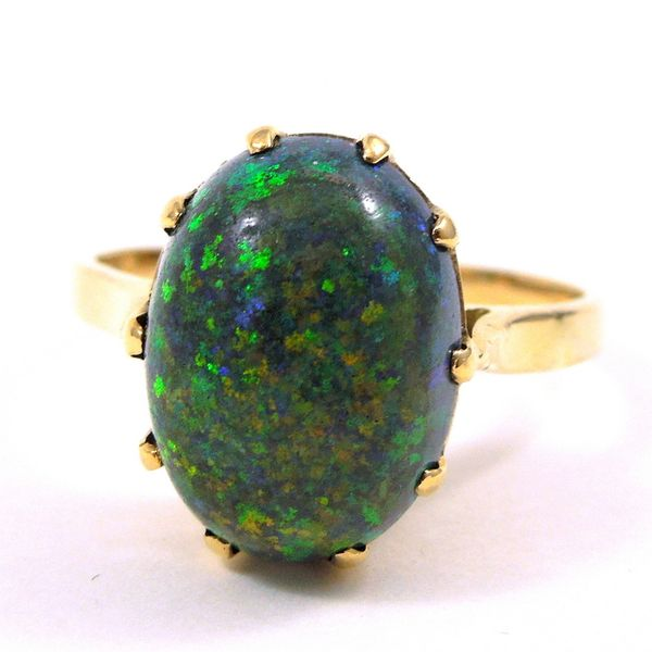 Black Opal Ring Joint Venture Jewelry Cary, NC