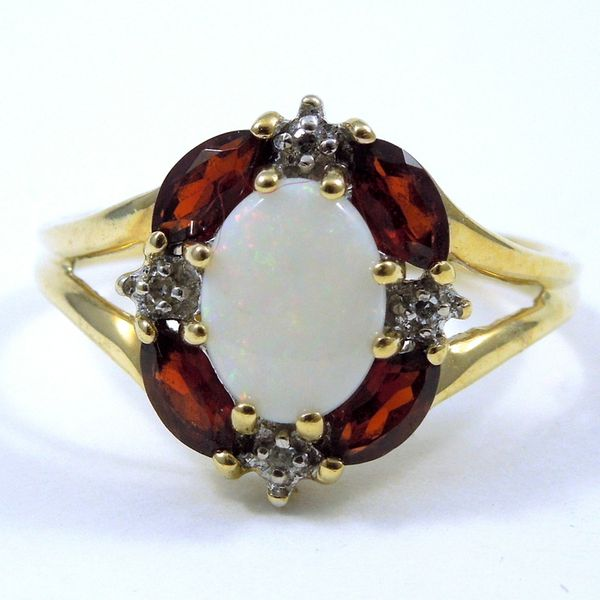 Opal & Garnet Ring Joint Venture Jewelry Cary, NC