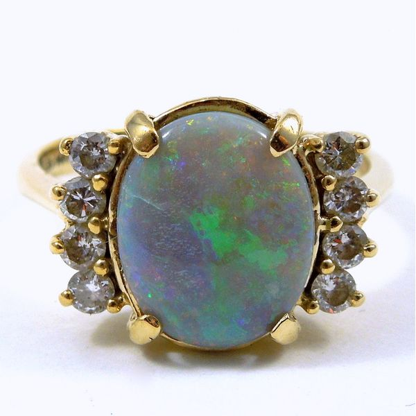 Opal & Diamond Ring Joint Venture Jewelry Cary, NC