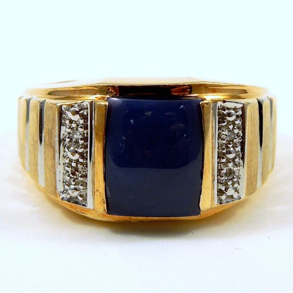 Gents Synthetic Star Sapphire Ring Joint Venture Jewelry Cary, NC