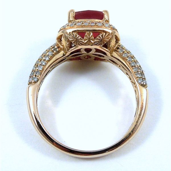 Rose Gold Ruby & Diamond Ring Image 2 Joint Venture Jewelry Cary, NC