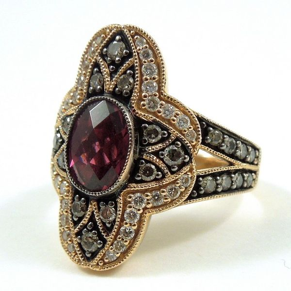Le Vian Garnet & Diamond Ring Image 2 Joint Venture Jewelry Cary, NC