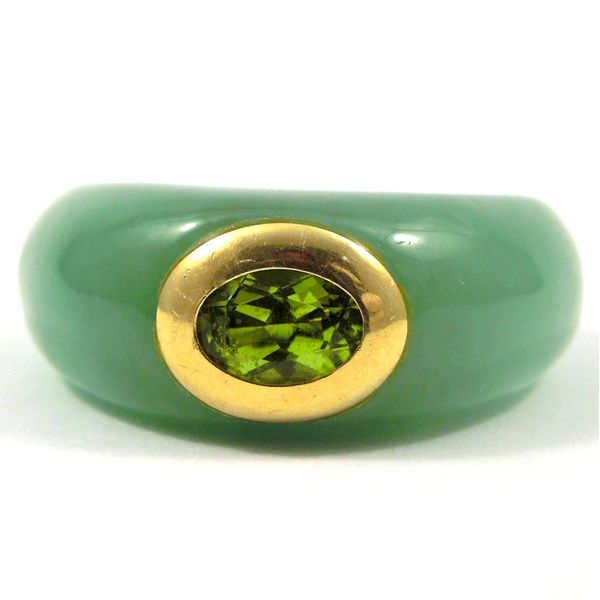 Aventurine and Peridot Ring Joint Venture Jewelry Cary, NC