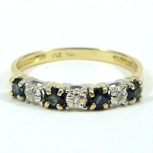 Diamond and Sapphire Wedding Band Joint Venture Jewelry Cary, NC
