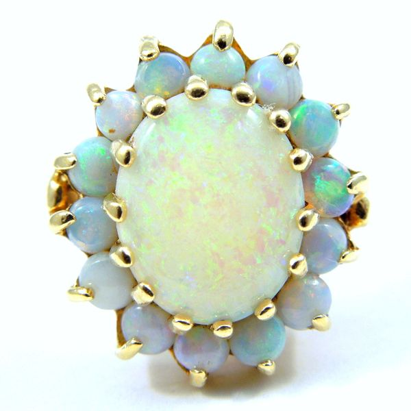 Opal Halo Ring Joint Venture Jewelry Cary, NC