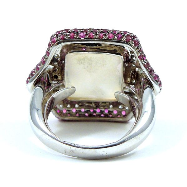 Pink Quartz and Pink Sapphire Ring Image 2 Joint Venture Jewelry Cary, NC
