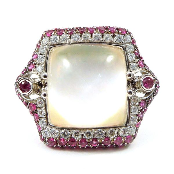 Pink Quartz and Pink Sapphire Ring Joint Venture Jewelry Cary, NC