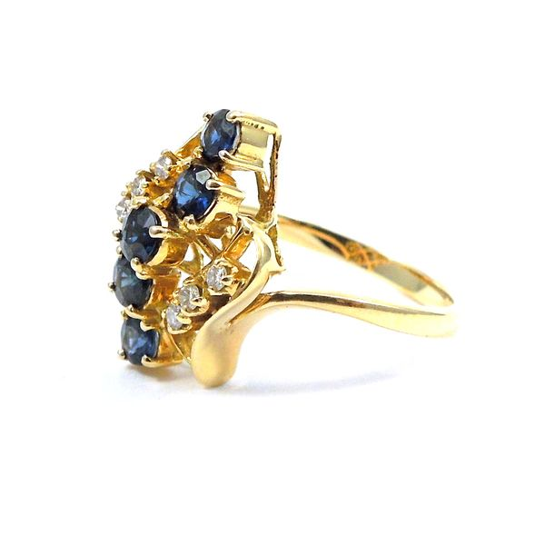 Sapphire and Diamond Cluster Ring Joint Venture Jewelry Cary, NC