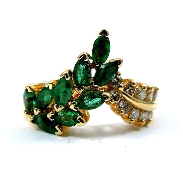 Emerald and Diamond Ring Joint Venture Jewelry Cary, NC
