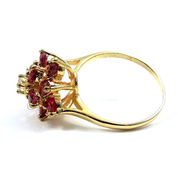 Ruby Cluster Ring Image 2 Joint Venture Jewelry Cary, NC