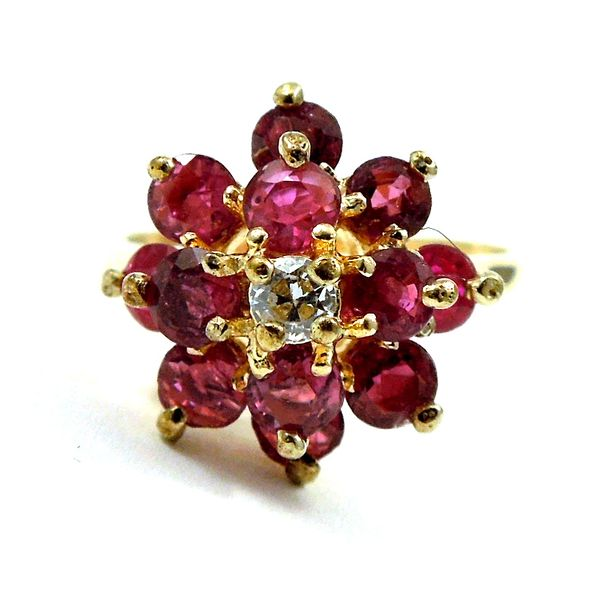 Ruby Cluster Ring Joint Venture Jewelry Cary, NC