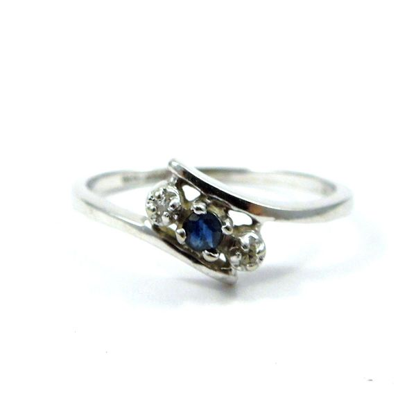 Sapphire and Diamond Bypass Ring Joint Venture Jewelry Cary, NC