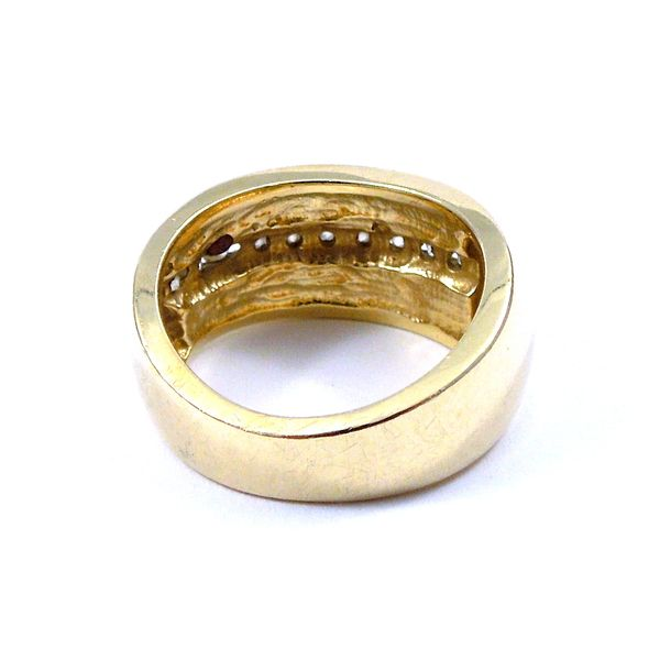 Diamond Inlaid Ring Image 2 Joint Venture Jewelry Cary, NC