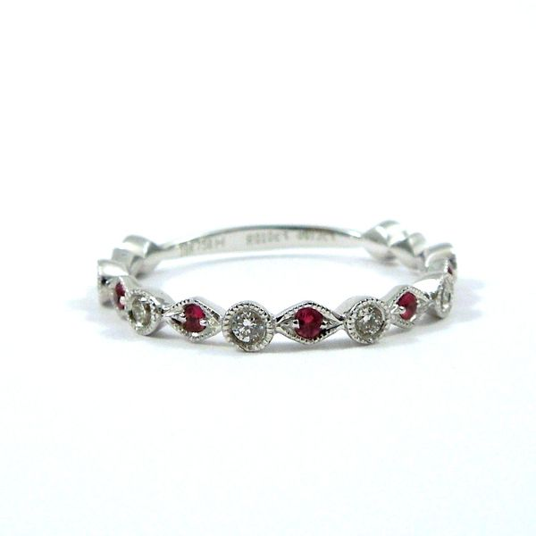 Ruby & Diamond Wedding Band Joint Venture Jewelry Cary, NC