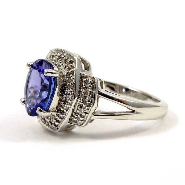 Tanzanite and Diamond Ring Image 2 Joint Venture Jewelry Cary, NC