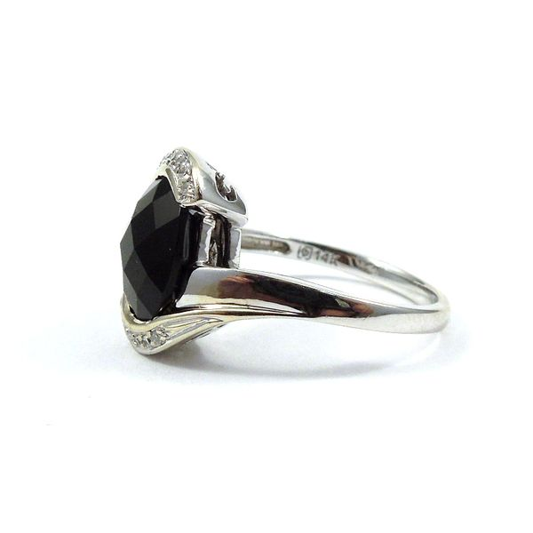 Onyx and Diamond Ring Image 2 Joint Venture Jewelry Cary, NC