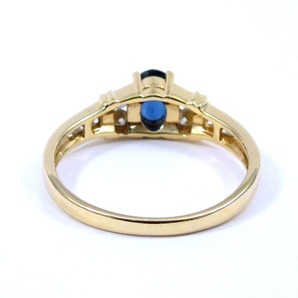 Sapphire & Diamond Ring Image 3 Joint Venture Jewelry Cary, NC