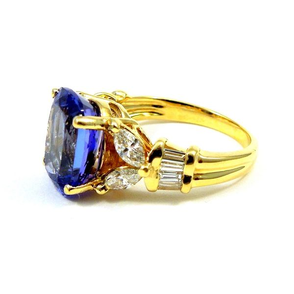 Tanzanite & Diamond Ring Image 2 Joint Venture Jewelry Cary, NC