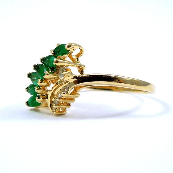 Emerald & Diamond Ring Image 2 Joint Venture Jewelry Cary, NC