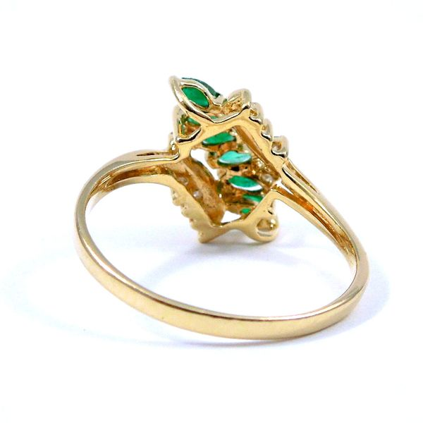 Emerald & Diamond Ring Image 3 Joint Venture Jewelry Cary, NC
