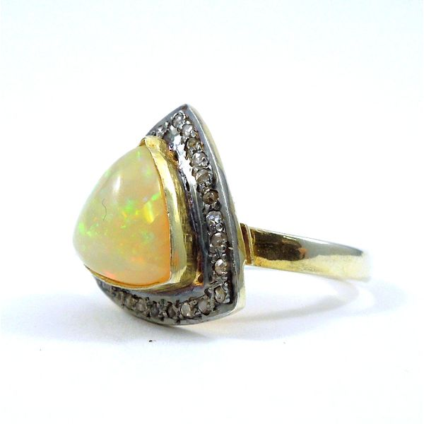 Opal and Diamond Ring Image 2 Joint Venture Jewelry Cary, NC