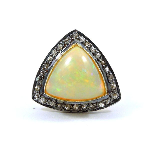 Opal and Diamond Ring Joint Venture Jewelry Cary, NC