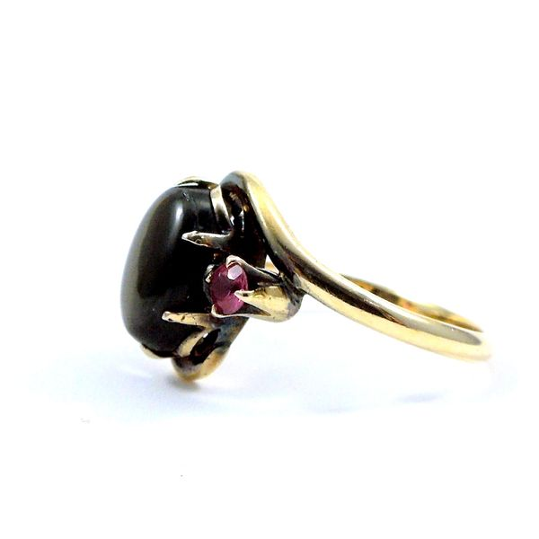 Hematite & Ruby Ring Image 2 Joint Venture Jewelry Cary, NC